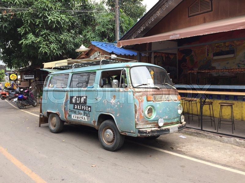PAI THAILAND - 24 MAY 2017: Old Volkswagen van food truck for sale ...