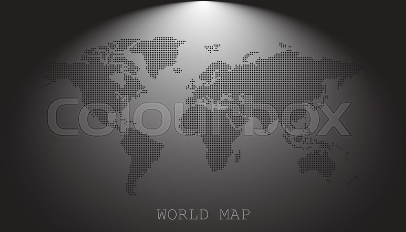 Dotted blank black world map isolated on grey background world map dotted blank black world map isolated on grey background world map vector template for website infographics design flat earth world map with round dots gumiabroncs Gallery