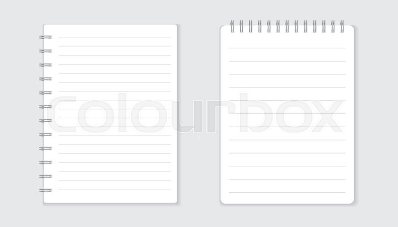 Realistic template notepad with spiral blank cover design school realistic template notepad with spiral blank cover design school business diary office stationery notebook on white background stock vector colourbox cheaphphosting Gallery