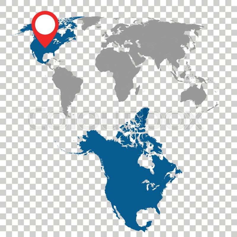 world maps of north america