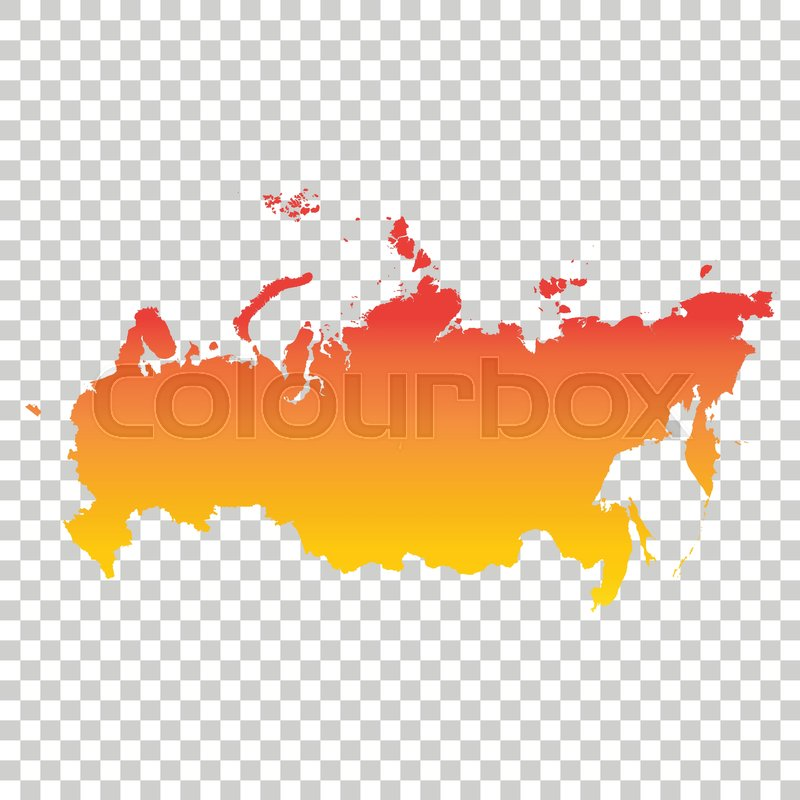 Russia, Russian Federation map. ... | Stock Vector | Colourbox