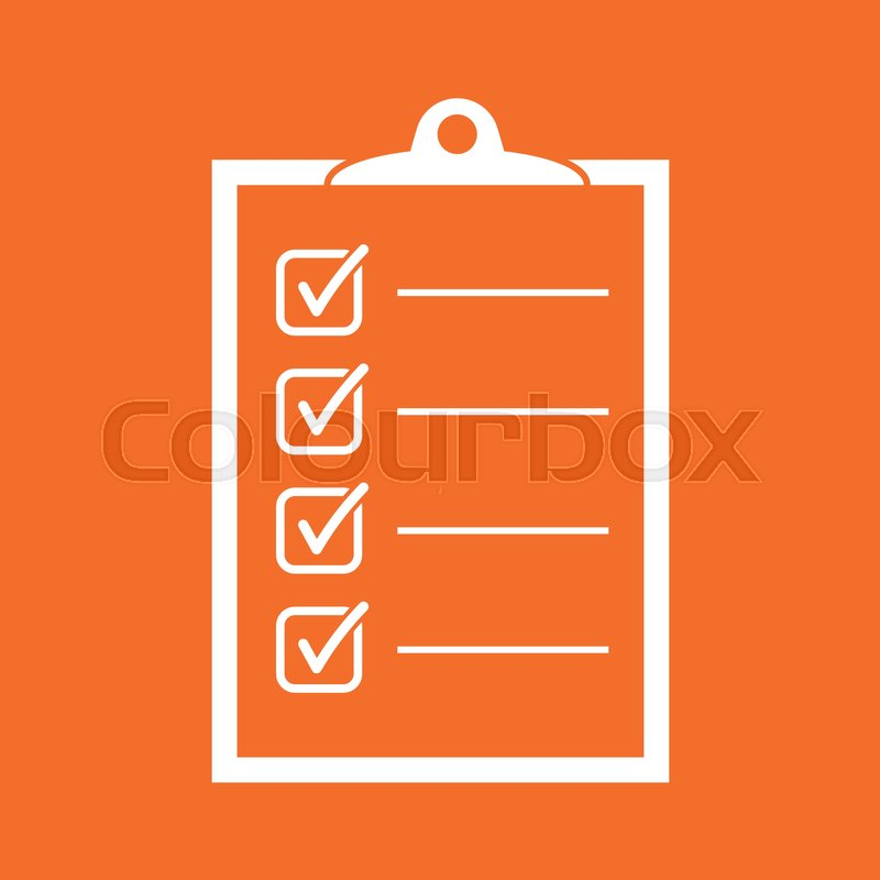 to do list icon checklist task list vector illustration in flat