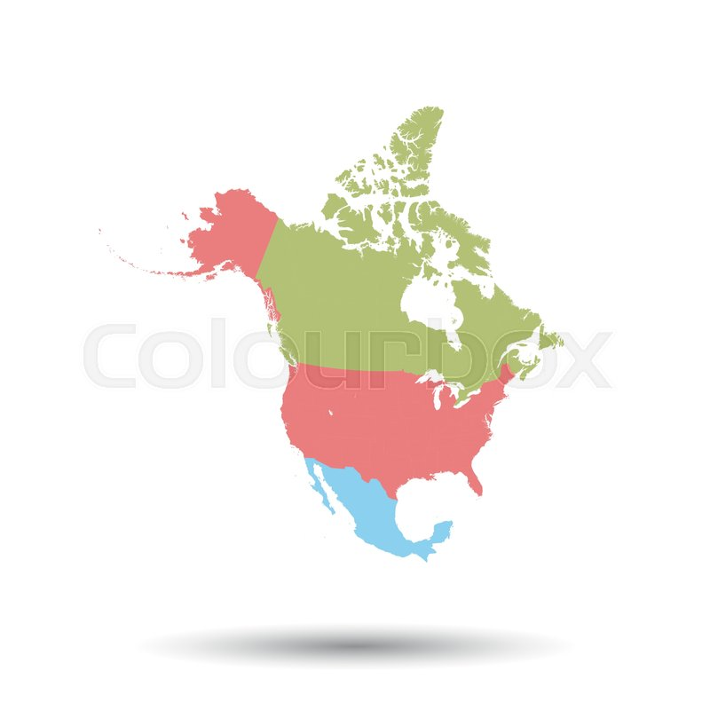 north america map icon flat vector illustration north america sign rh colourbox com north america vector map with states and provinces north america vector map free download