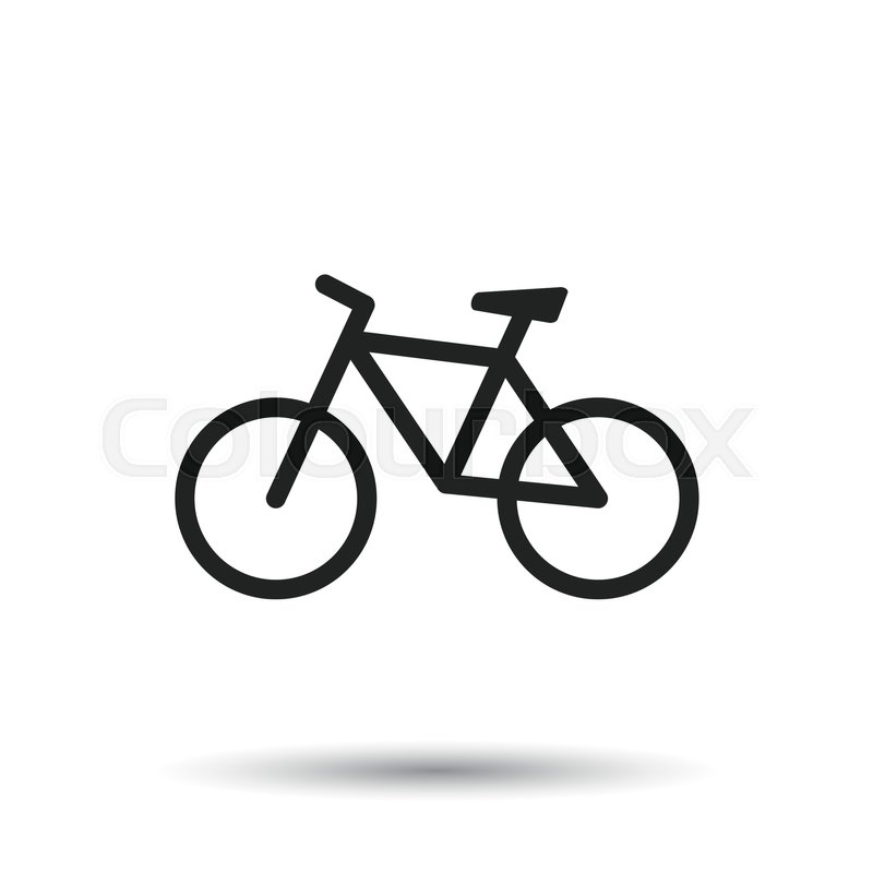 bike icon on white background bicycle vector illustration in flat rh colourbox com vector bike review vector bike rack
