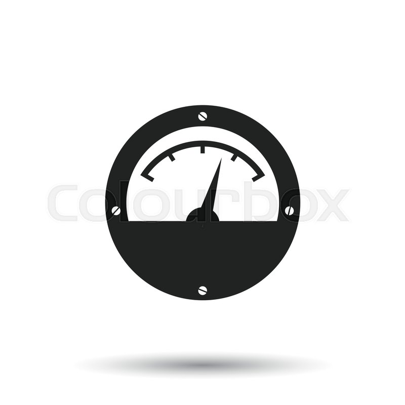 Electric meter icon. Power meter flat vector illustration on white ...