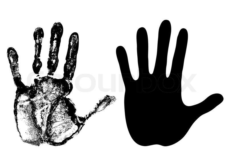 hand open palm vector stock vector colourbox rh colourbox com vector handpieces vector handsaw