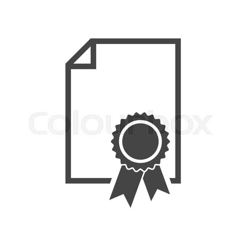 certificate icon diploma symbol flat vector illustration on  diploma symbol flat vector illustration on white background vector