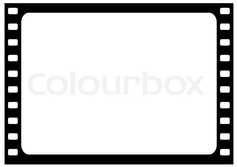 Illustration Der Großen Film Frame Vektorgrafik Colourbox