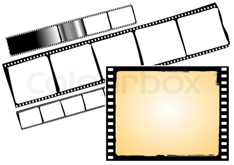 Various film frames and film strips - vector | Stock Vector | Colourbox