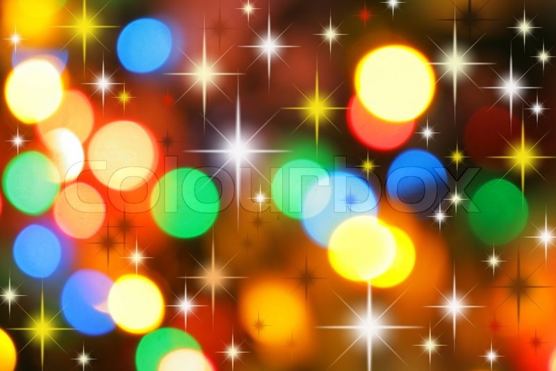 colorful christmas lights out of focus and stars may be used as background stock photo colourbox