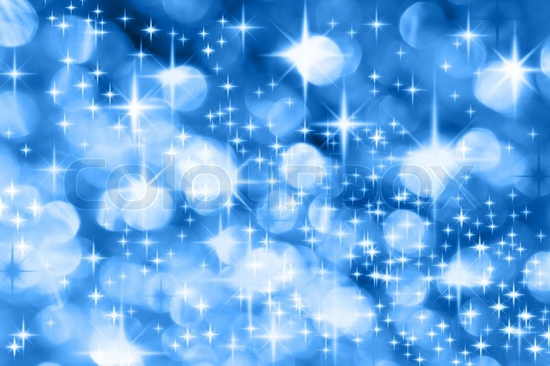 the milky way blue christmas background with stars stock photo colourbox - Blue Christmas Background