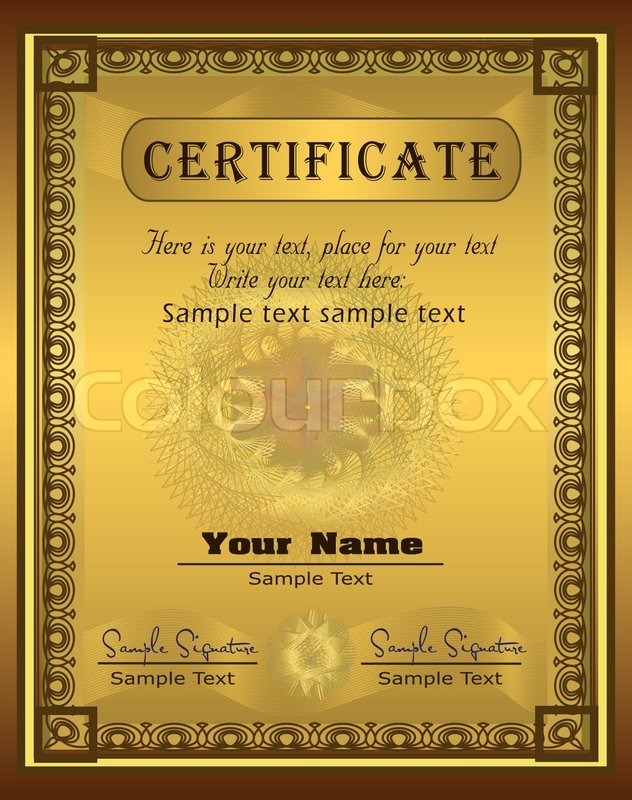 Certificate Guilloche Coupon Certificate Template Security