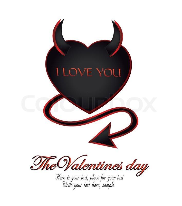 devil heart love happy valentine s day stock vector colourbox