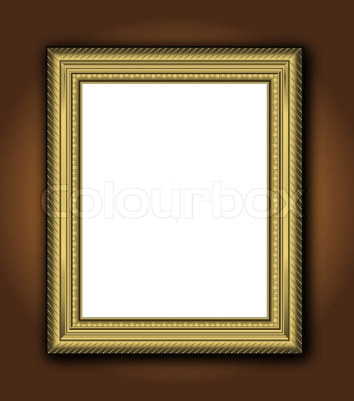 Blackboard frame gold wood photo wall vertical vector | Stock Vector ...