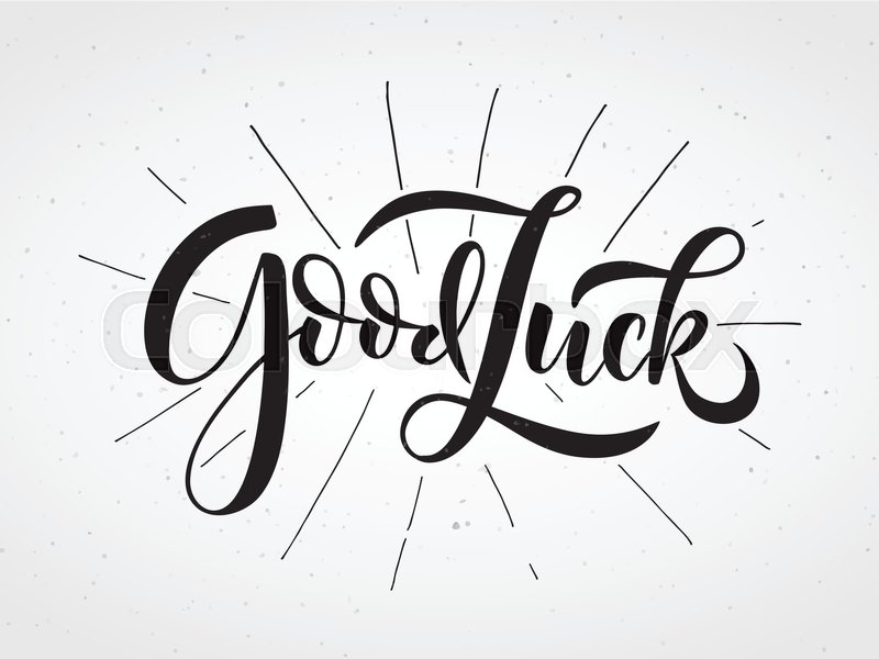 Hand sketched Good Luck lettering ...   Stock vector   Colourbox