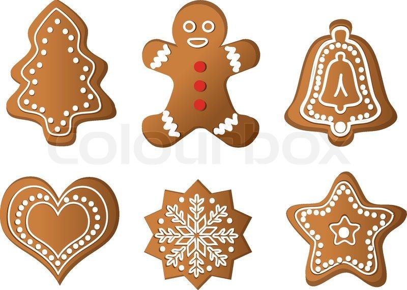 christmas gingerbread vector stock vector colourbox. Black Bedroom Furniture Sets. Home Design Ideas