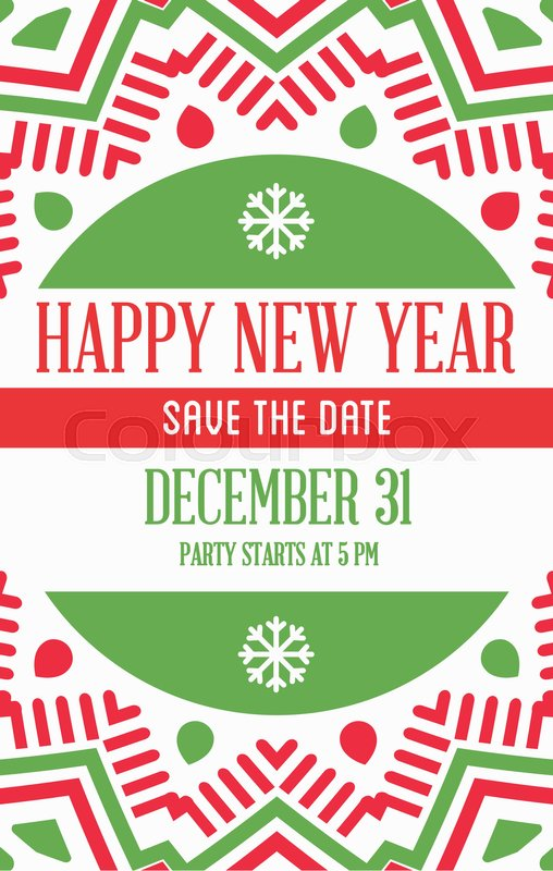 stock vector of vector happy new year or merry christmas theme save the date invitation