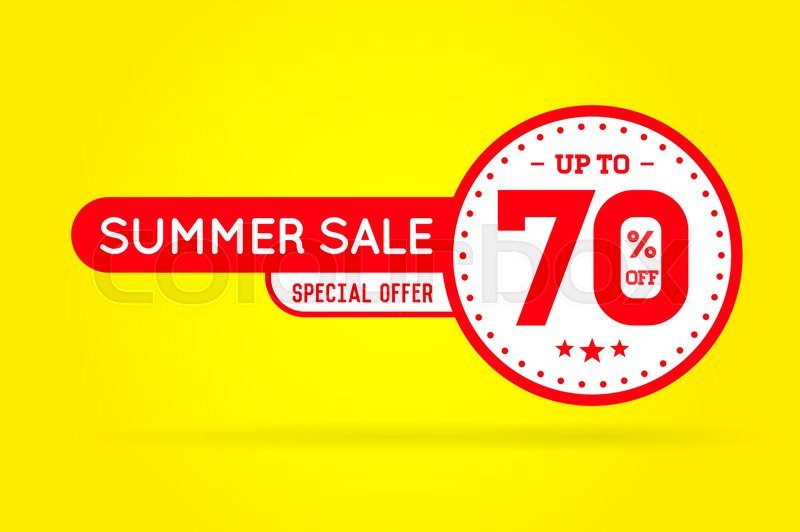 summer sale sign banner poster ready for web and print vector