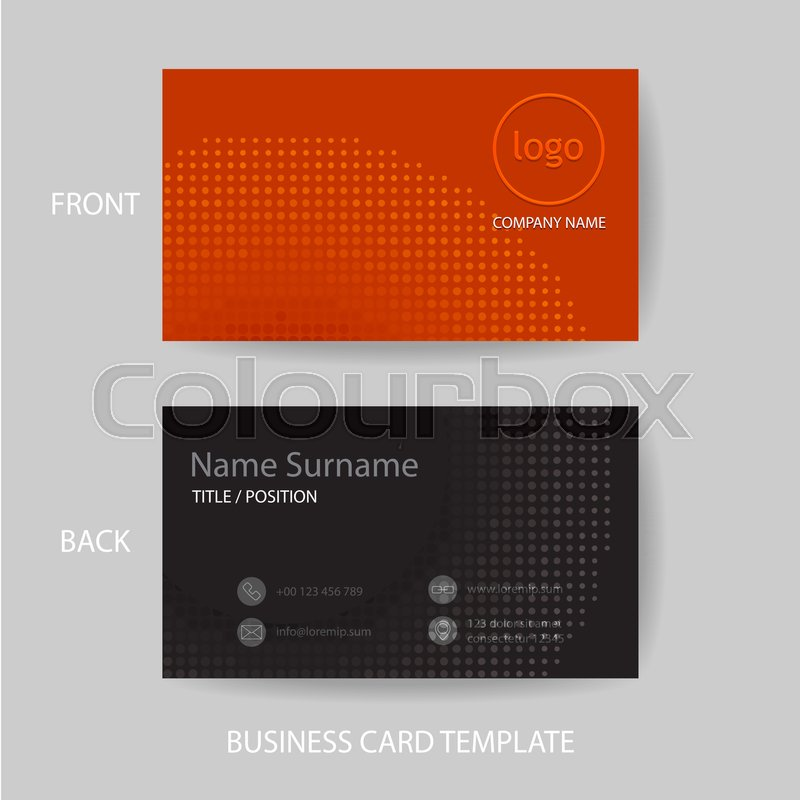 Vector Modern And Clean Business Card Name Card Design Template In - Name card design template