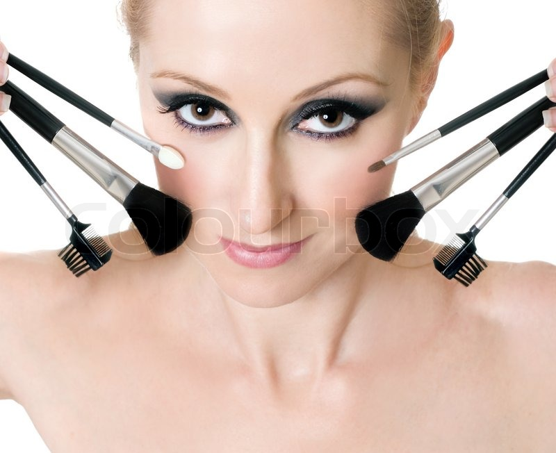 Makeup Tools on Image Of  Makeup Brushes And Tools Help Achieve Flawless Application