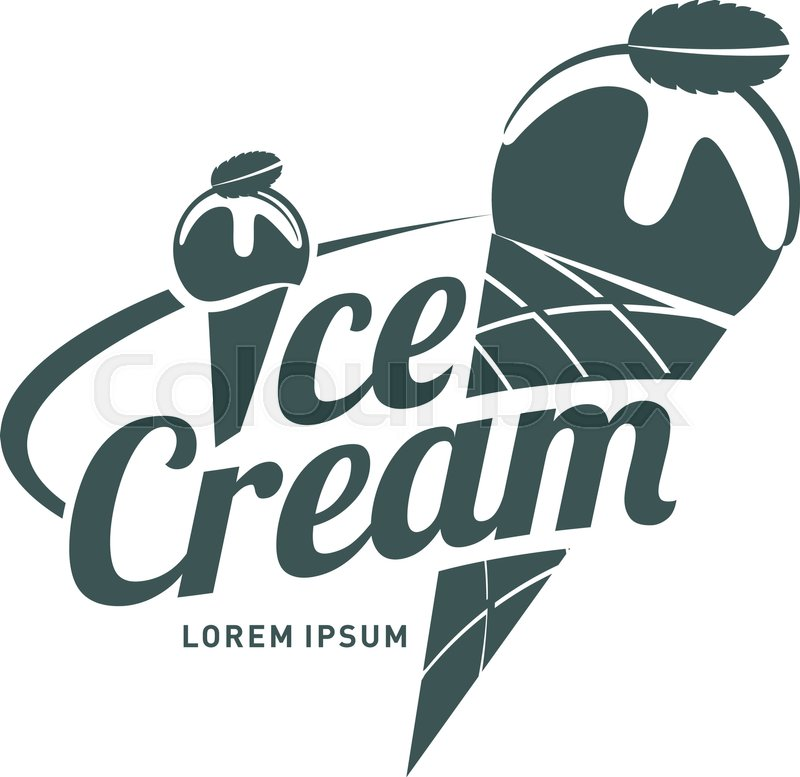 Ice cream logo vector illustration vintage style badges and labels ice cream logo vector illustration vintage style badges and labels design concept for your restaurant business black and white logo templates for your wajeb Image collections