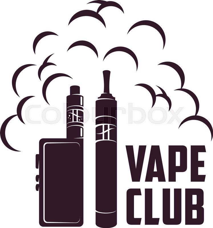 Vape, e-cigarette emblems, labels,       Stock vector