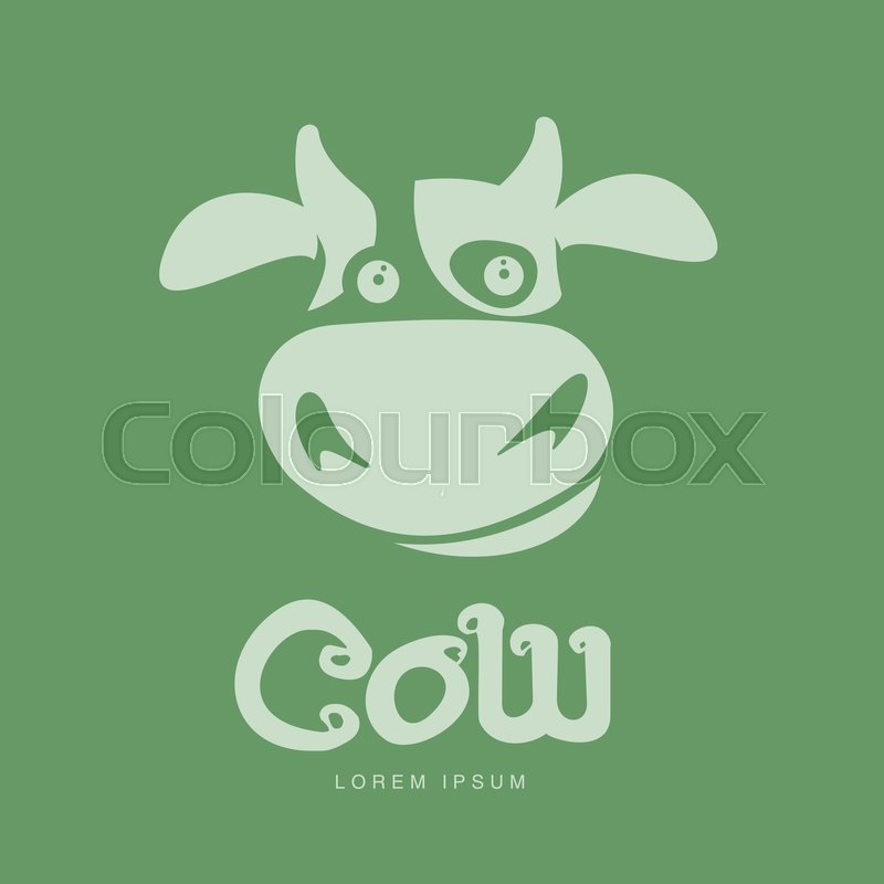 funny cow head logo template funny smiling sad cow face for dairy