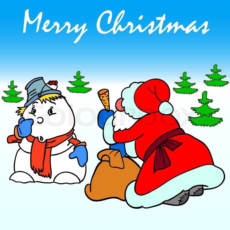 Clipart schnee weihnachten vektorgrafik colourbox - Clipart weihnachten ...