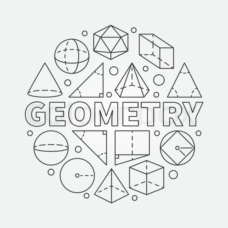 Geometry round illustration  Vector     | Stock vector | Colourbox