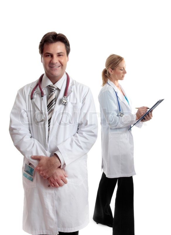 Male and female healthcare workers in ... | Stock image ...