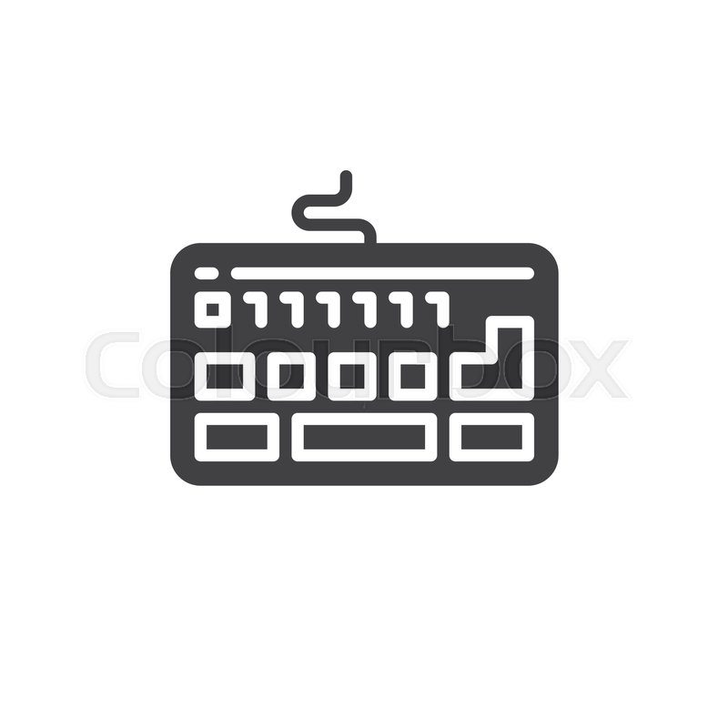 Keyboard Icon Vector Filled Flat Sign Solid Pictogram Isolated On