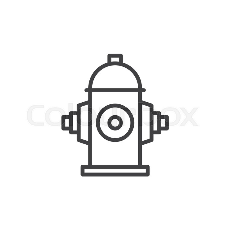 Fire Hydrant Line Icon Outline Vector Sign Linear Style Pictogram