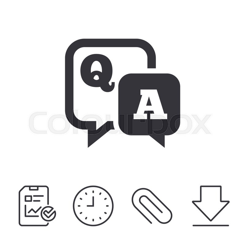 Question Answer Sign Icon Qa Symbol Report Time And Download