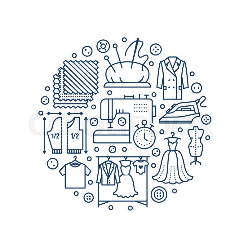 2737959c52006 Clothing repair, alterations studio ... | Stock vector | Colourbox
