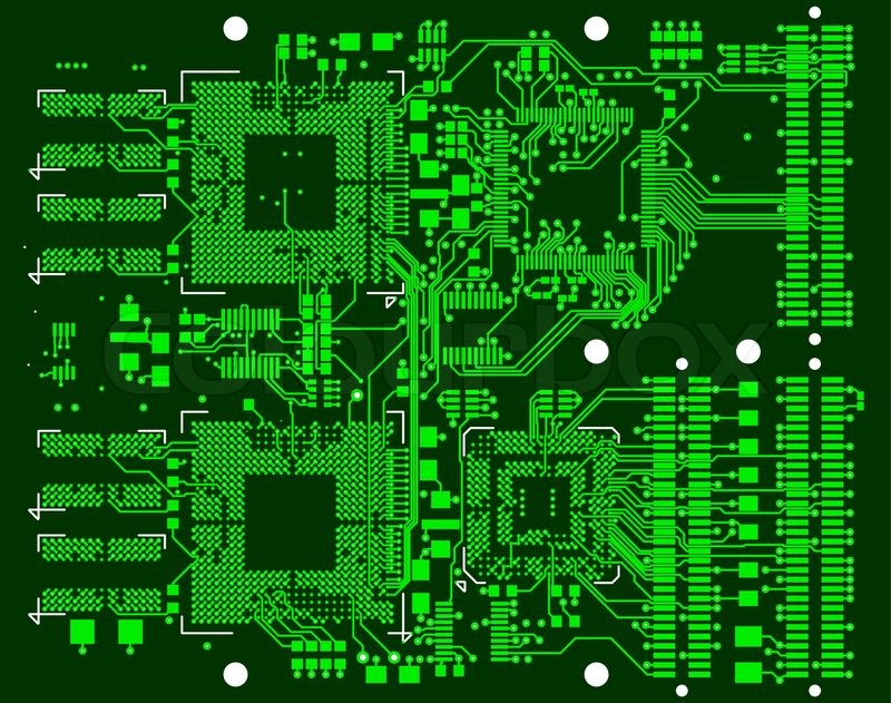 Green Circuit Board Royalty Free Stock Photo Image 27694475