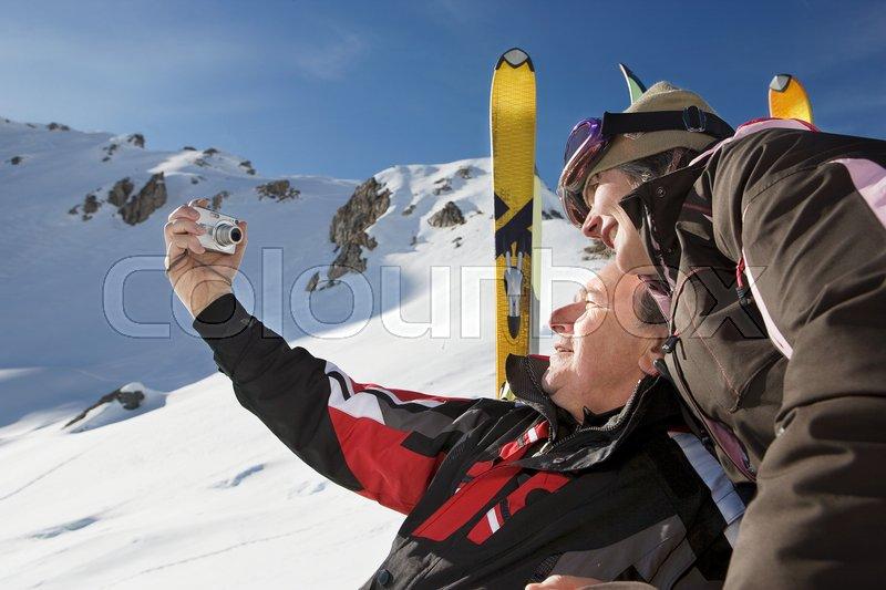 Mature man in ski-wear, stock photo