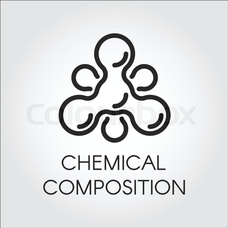 Chemical molecular icon in linear style atom structure contour logo atom structure contour logo black simplicity vector pictogram for your projects web label stock vector colourbox ccuart Images