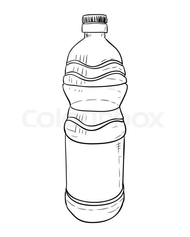 Vector sketch of plastic bottle hand draw illustration stock vector colourbox