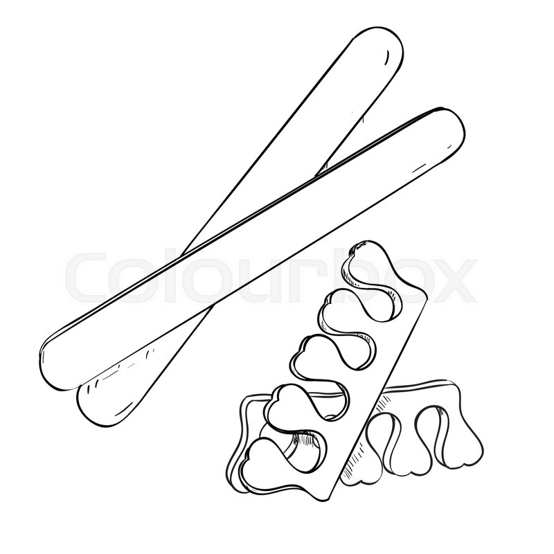 Sketch Set Of Cosmetic Products For