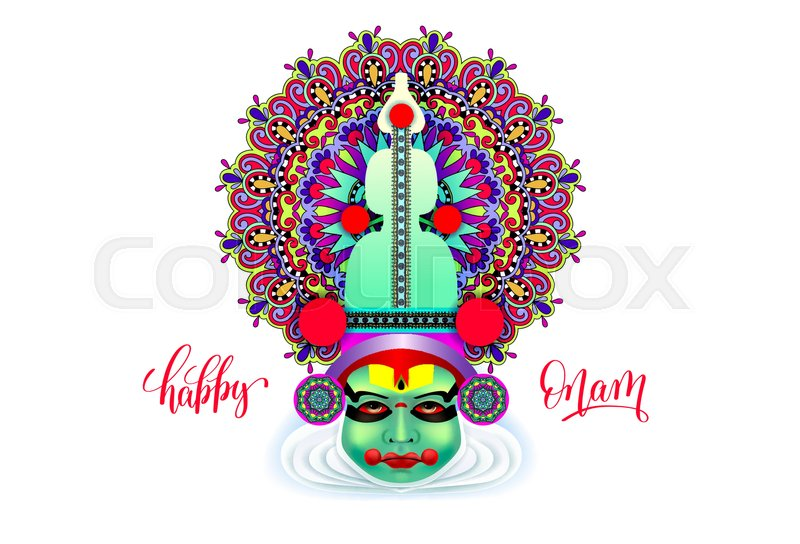 Indian Kathakali Dancer Face Stock Vector Colourbox
