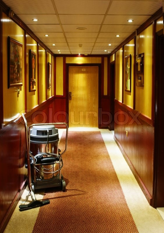 Vacuum cleaner stands in the corridor of the hotel stock photo vacuum cleaner stands in the corridor of the hotel stock photo colourbox sciox Images