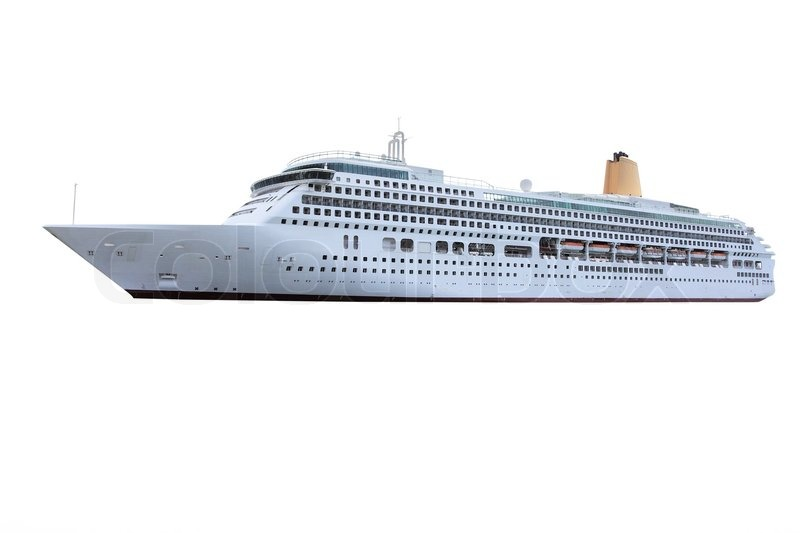 The Image Of Ocean Ship Under The White Background Stock