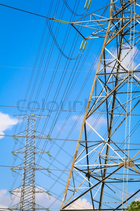 Transmission line of electric city cable , High voltage cable on ...