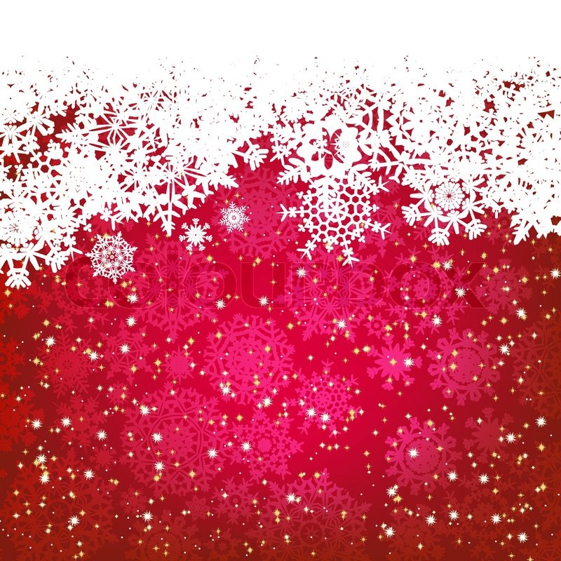 beautiful red happy christmas cardwinter holiday background stock vector colourbox