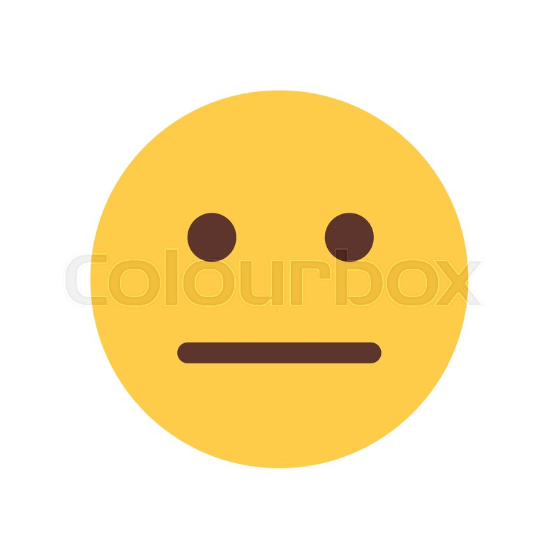 yellow cartoon face sad upset emoji people emotion icon flat vector