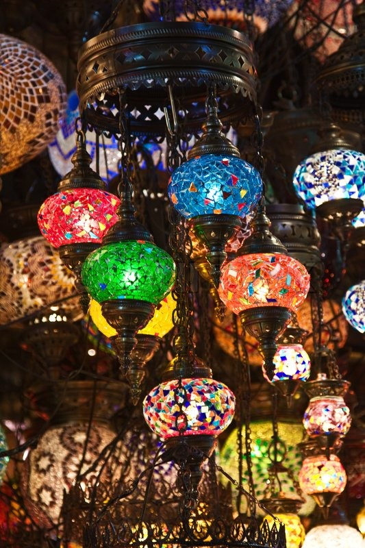 Stock Image Of U0027Traditional Turkish Lamps On The Marketu0027