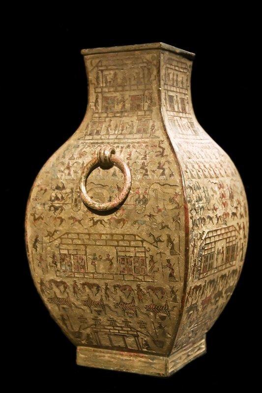 Ancient Chinese Vase Shang Period Han Stock Photo