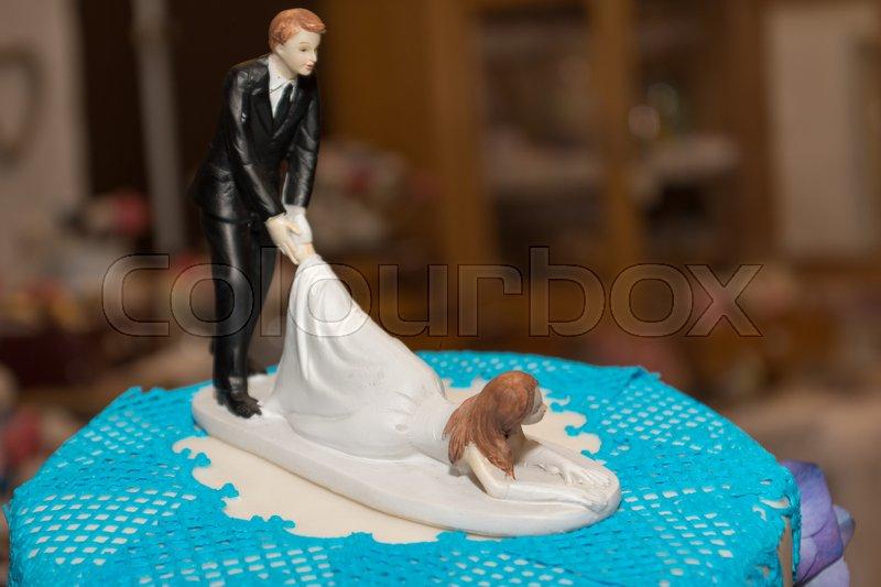 Dekoratives Und Lustiges Brautpaar Auf Stockfoto Colourbox