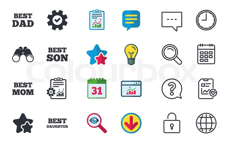 Best Mom And Dad Son And Daughter Icons Award Symbols Chat