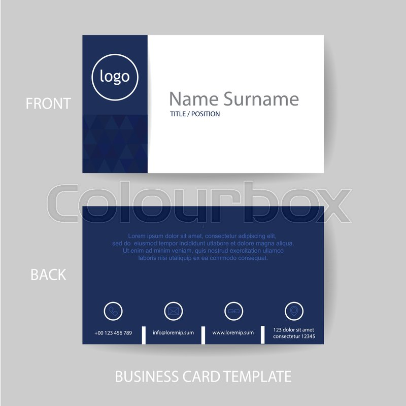 Vector modern and clean business card name card design template in ...